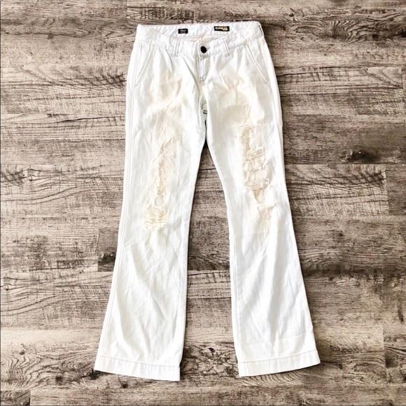 Express Denim - NWOT Express Stella light wash distressed jeans